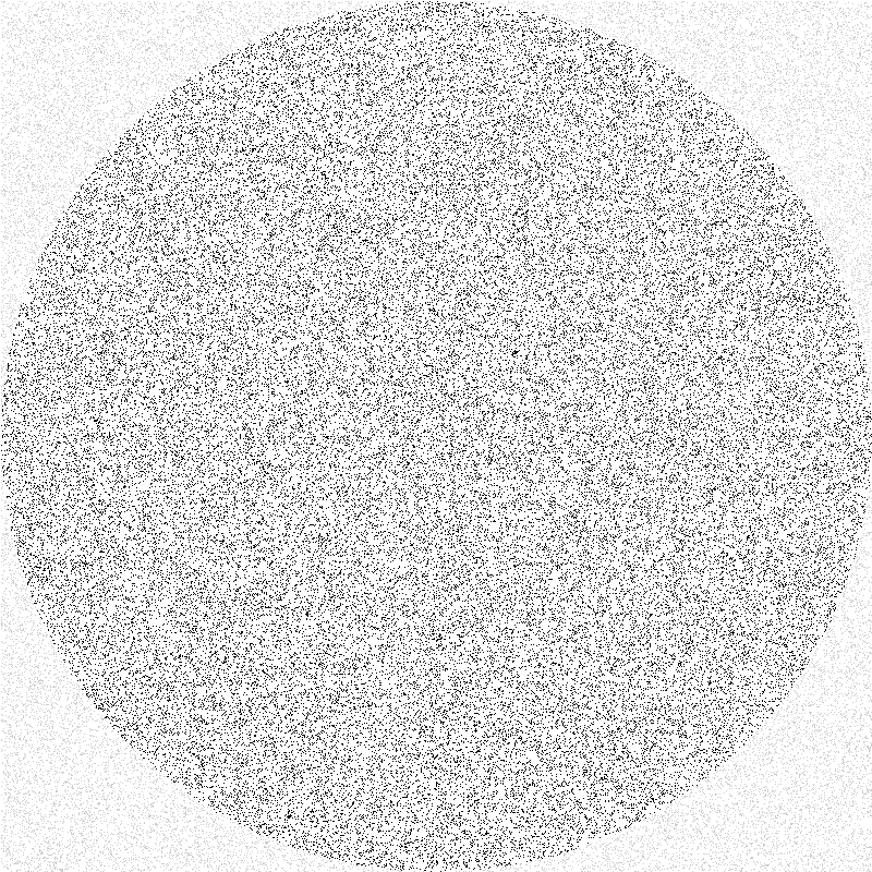 randomly placed points in a square, where the black ones fall within an inner circle