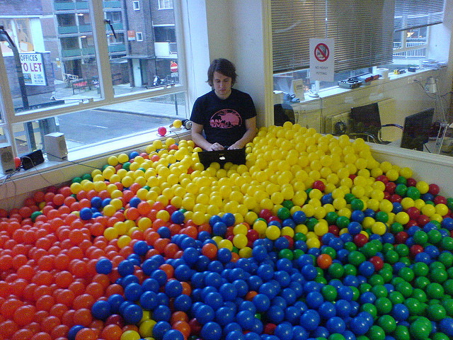 Programmer in a sea of balls